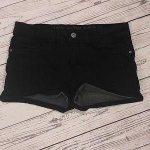 Girls vanilla star black shorts